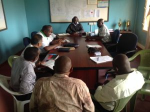 KAAA, NIB, AFC, RIVATEX, AFFA and Private Investor meeting at the Bura Scheme Manager's office.