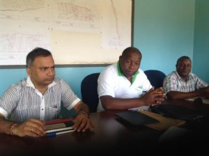 The Private Investor Guru Rajan together with Anthony Muriithi and Fanuel Lubanga of AFFA at the meeting