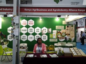 A KAAA SME at an exhibition stand during the Guangdong Expo in China