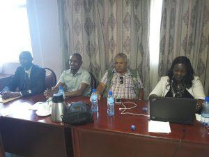 KAAA's Kevin Gakumo (2nd left) at the Kabarnet meeting